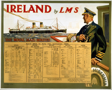 'Ireland by LMS - The Royal Mail', LMS poster, 1935.