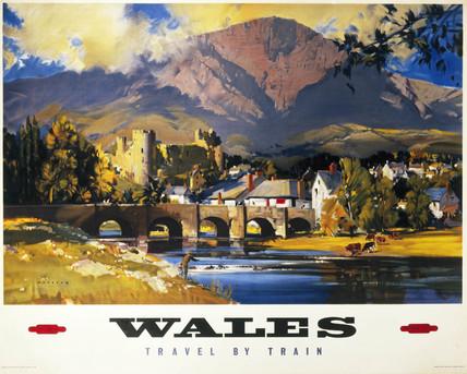 'Wales', British Railways poster, c 1950s.