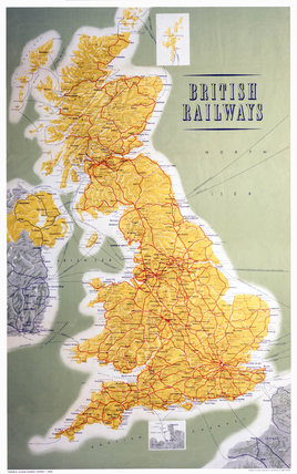 British Railways Map Of The System 1962 At Science