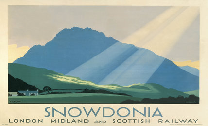 'Snowdonia', LMS poster, c 1933.