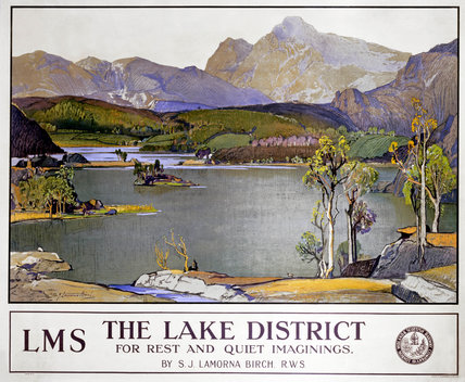 'The Lake District - for rest and quiet imaginings'. LMS poster, 1923-1947.