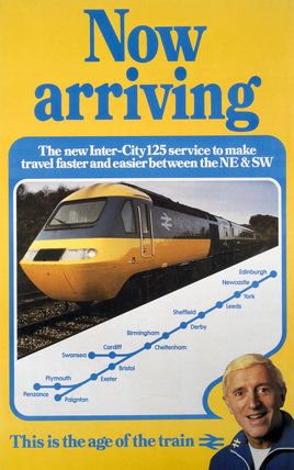 Now Arriving Inter City 125 Br Cas Poster 1982 At