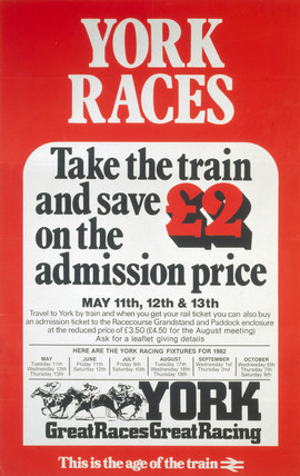 'York Races', BR poster, 1982.