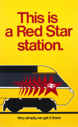 'This is a Red Star Station', BR poster, 1985.
