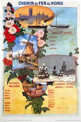 Chemin de Fer du Nord reproduction poster.
