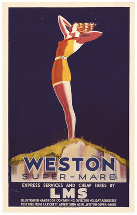 'Weston-super-Mare', LMS poster, c 1930s.