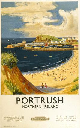 'Portrush', BR (LMR) poster, 1952.