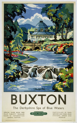 'Buxton', BR (LMR) poster, 1950.