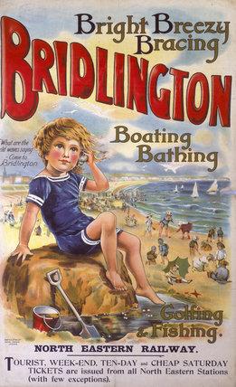 'Bridlington', NER poster, c 1910.