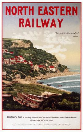 'Runswick Bay', NER poster, 1900-1922.