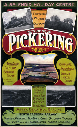 'Picturesque Pickering', NER poster, c 1900-1910.