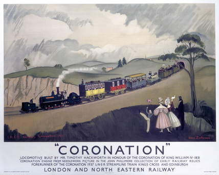 'Coronation', LNER poster, 1937.