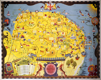 Map of Norfolk, BR (ER) poster, 1948-1965.