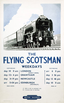 'The Flying Scotsman', BR poster, 1950.