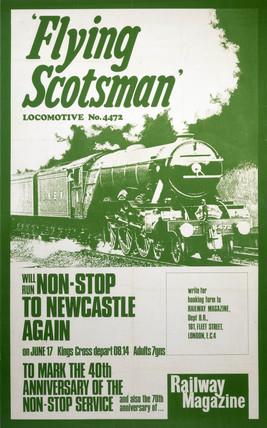 'Flying Scotsman', Railway Magazine poster, c 1968.