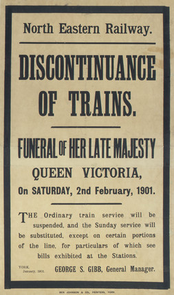 'Funeral of Queen Victoria', NER poster, 1901.