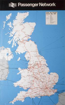 'Pasenger Network', BR(CAS) poster, 1983.