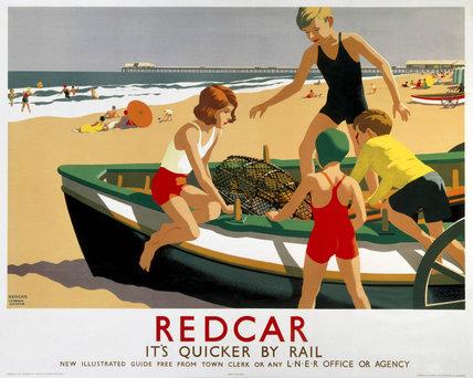 'Redcar', LNER poster, 1936-1937.