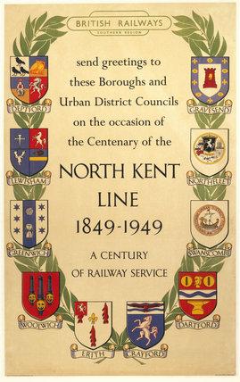 'North Kent Line 1849 - 1949', BR(SR) poste