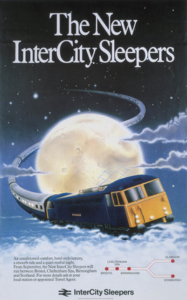 'The New Inter-City Sleepers', BR poster, 1983.