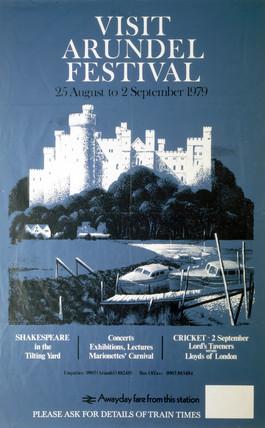 'Visit Arundel Festival', BR(SR) poster, 1979.