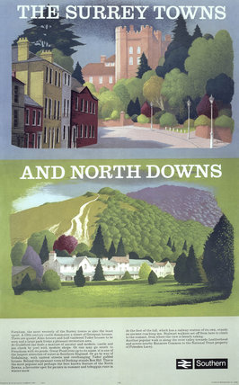 'The Surrey Towns and North Downs', BR poster, 1950s.