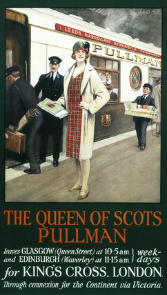 'The Queen of Scots Pullman', Pullman Company poster, 1930s.