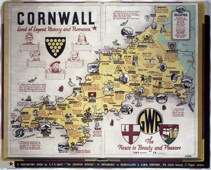 'Cornwall, The Route to Beauty and Pleasure', GWR poster, c 1933.
