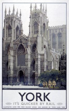'York Minster', LNER poster, 1941.