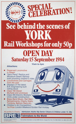 'See Behind the Scenes of York', BR poster, 1984.