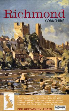 'Richmond, Yorkshire', BR (NER) poster, 1962.