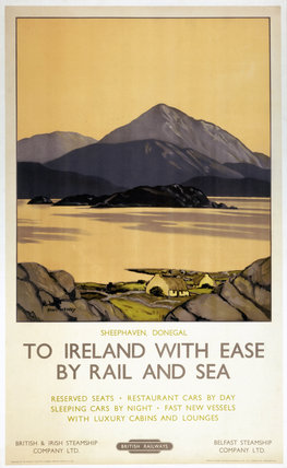 'To Ireland with Ease by Rail and Sea', BR (LMR) poster, 1951.