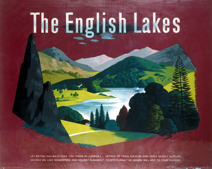 'The English Lakes', BR(LMR) poster, c 1950s.