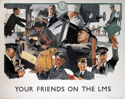'Your Friends on the LMS', LMS poster, 1946.