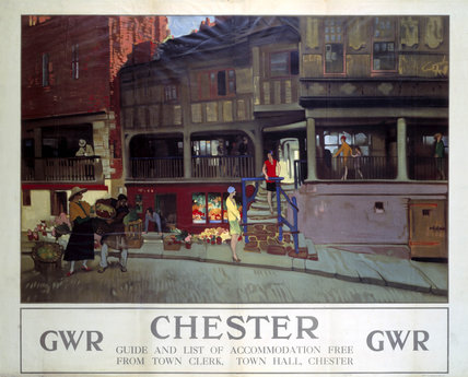 'Chester', GWR poster, c 1920s.