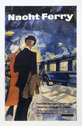 Nacht Ferry (Night Ferry), BR (SR) poster,