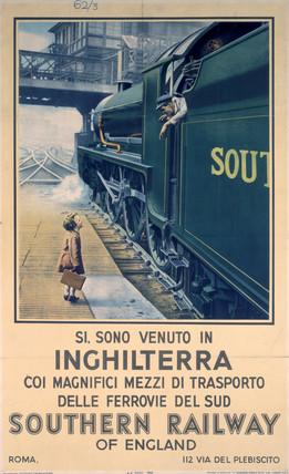 'Si, Sono Venuto in Inghilterra...', SR poster, 1936.