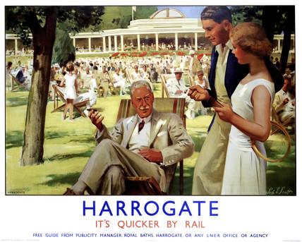 'Harrogate', LNER poster, c 1930s.