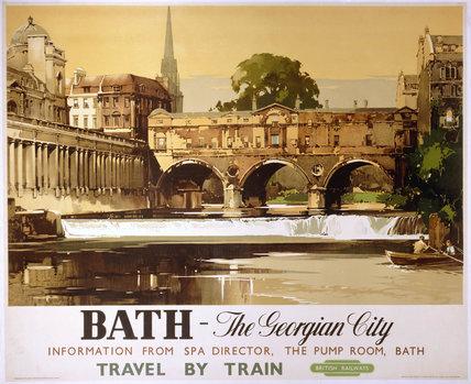 'Bath - The Georgian City', BR poster, 1950.