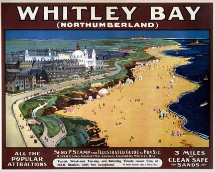 'Whitley Bay', NER poster, 1900-1922.