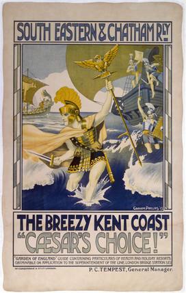 'Caesar's Choice', SECR poster, 1913.