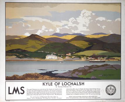 'Kyle of Lochalsh', LMSR poster, 1930s.