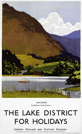 'The Lake District for Holidays', LMSR poster, 1930s.