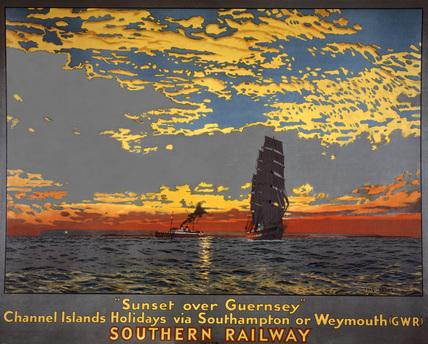'Sunset over Guernsey', SR poster, 1939.