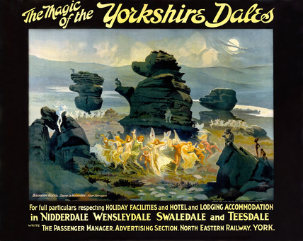 'The Magic of the Yorkshire Dales', NER poster, 1914.