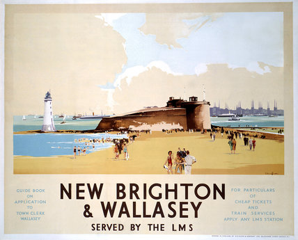 'New Brighton & Wallasey', LMS poster, 1923-1947.