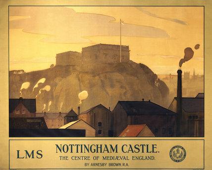 'Nottingham Castle', LMS poster, 1924.