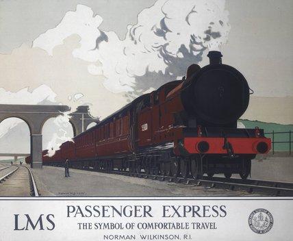 'Pasenger Expres', LMS poster, 1930s.