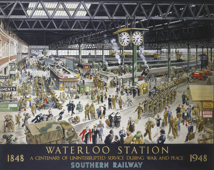 'Waterloo Station - War', SR poster, 1948.