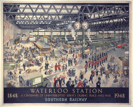 'Waterloo Station - Peace', SR poster, 1948.